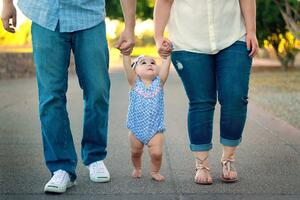 Family with baby life insurance beneficiary