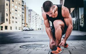 Fitness man running insurance new year resolution personal insurance healthcare