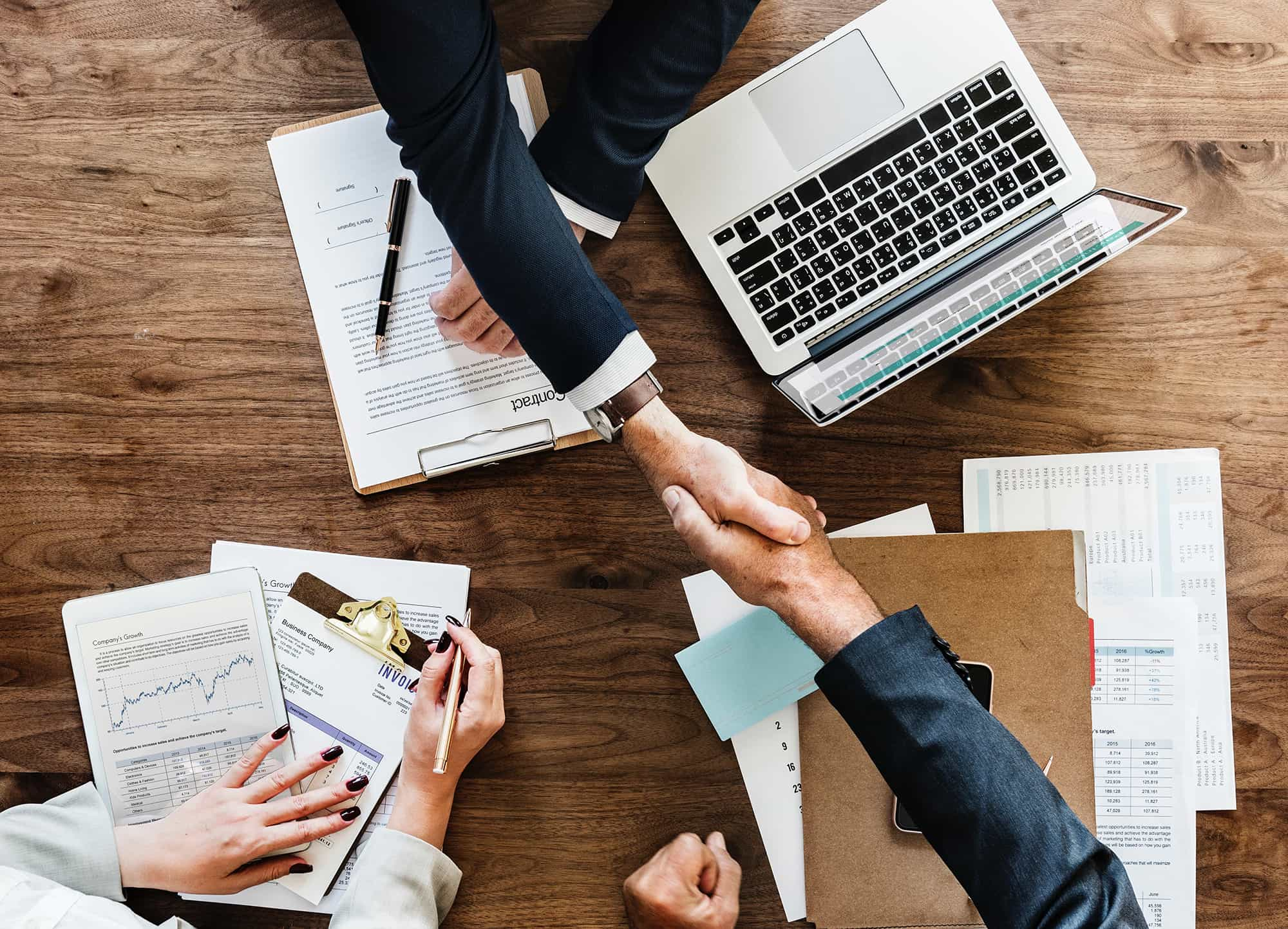 Office Meeting Handshake