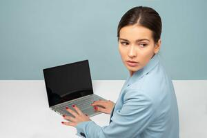 woman laptop business cyber security password