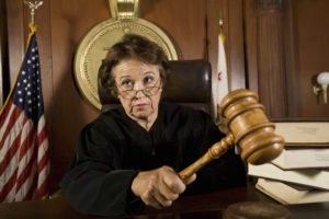 Lady in court