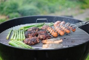 Grilling on bbq