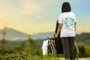 Person in wheelchair - Hospice