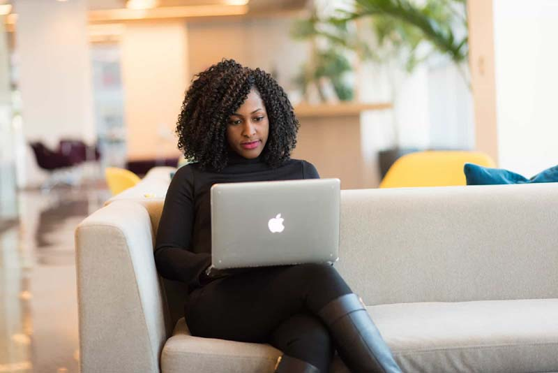 woman laptop online insurance