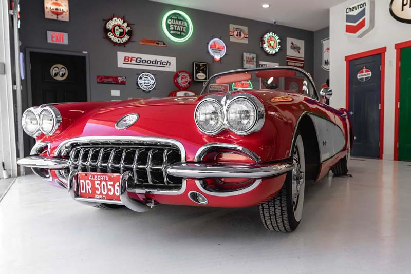 classic car in garage insurance