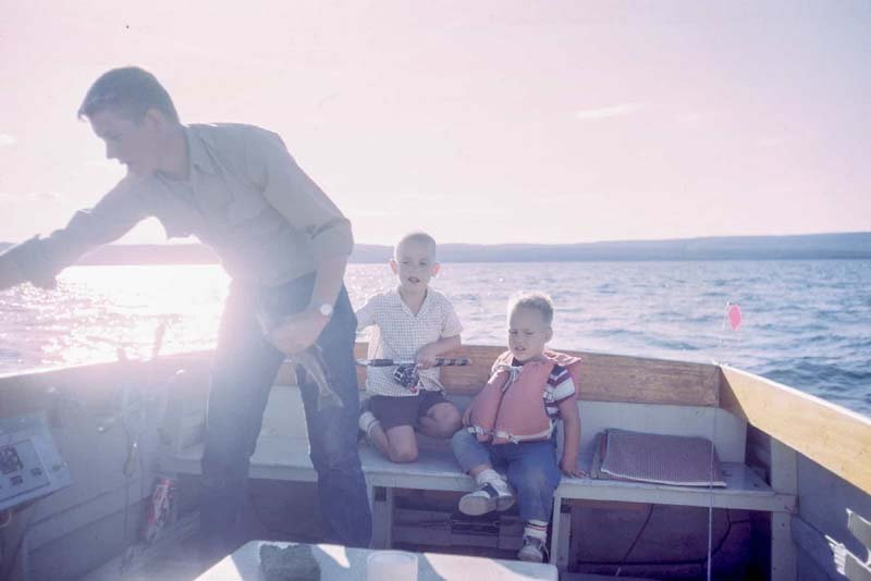 Family at a boat